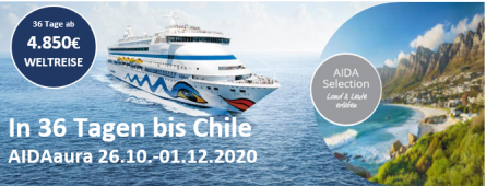 Selection Weltreise Teil 1 2020  AIDAaura