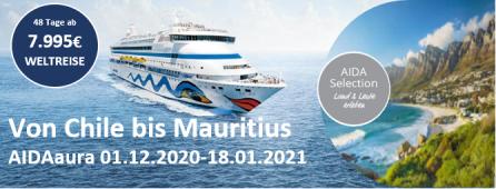 Selection Weltreise Teil 2 2020 AIDAaura