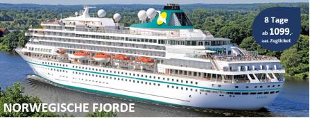 Norwegische Fjorde MS AMERA