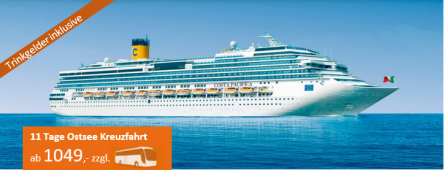 11 Tage Ostseekreuzfahrt COSTA PACIFICA