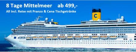 Mittelmeerall incl. ab 499,- COSTA FORTUNA