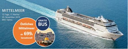 Mittelmeer und Israel zum besten Preis MSC OPERA