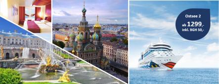 Ostsee 2 mit St. Petersburg AIDAmar
