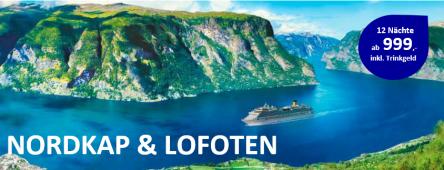 12 Tage Nordkap und Lofoten COSTA PACIFICA