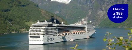 Norwegische Fjorde ab Warnemünde MSC POESIA