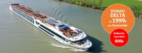 Donau bis zum Delta Luxuskreuzfahrt MS ADORA