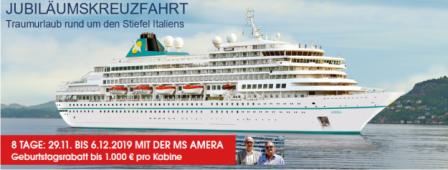Jubiläums Schlagerkreuzfahrt MS AMERA