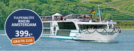 Rhein bis Amsterdam - Tulpenblüte MS ANESHA