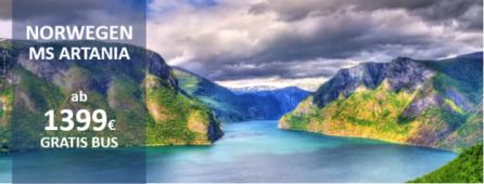 Norwegische Fjorde MS ARTANIA