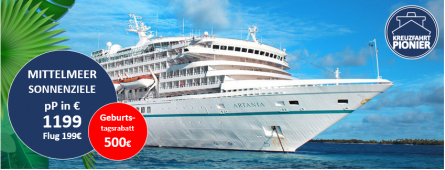 Mittelmeer Luxuskreuzfahrt MS ARTANIA