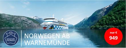 Norwegen ab Warnemünde AIDAaura