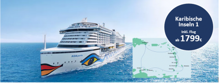 Karibische Inseln 1 AIDAperla