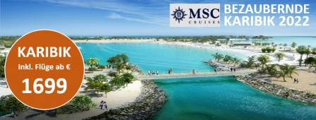Karibische Trauminseln MSC SEAVIEW