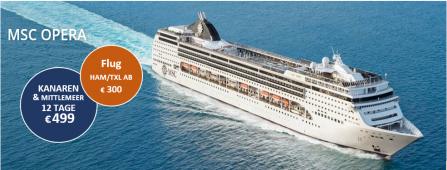 Mittelmeer und Kanaren zum besten Preis MSC OPERA