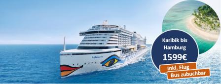 Karibische Inseln bis Hamburg AIDAperla
