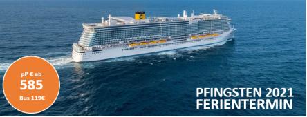 Pfingst Kreuzfahrt Costa Smeralda 2021