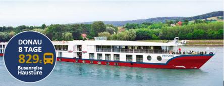 Donaukreuzfahrt mit Haustürservice MS VIKTORIA