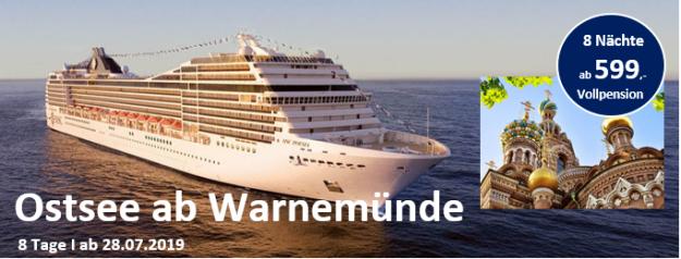 Ostseekreuzfahrt ab Warnemünde MSC POESIA